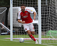 Ched Evans celebrates scoring the opening goal<br /> <br /> Photographer David Shipman/CameraSport<br /> <br /> The EFL Sky Bet League One - Oxford United v Fleetwood Town - Saturday August 11th 2018 - Kassam Stadium - Oxford<br /> <br /> World Copyright &copy; 2018 CameraSport. All rights reserved. 43 Linden Ave. Countesthorpe. Leicester. England. LE8 5PG - Tel: +44 (0) 116 277 4147 - admin@camerasport.com - www.camerasport.com