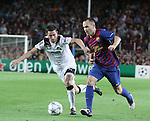 UEFA Champions League, Spain, Camp Nou, FC Barcelona v Viktoria Plzen. Picture show Andres Iniesta