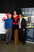 Supreme Award winner Valerie Vili with Bruce Pulman & Russell Preston. . Counties Manukau Sport 17th annual Sporting Excellence Awards held at the Telstra Clear Pacific Events Centre, Manukau City, on November 27th 2008.
