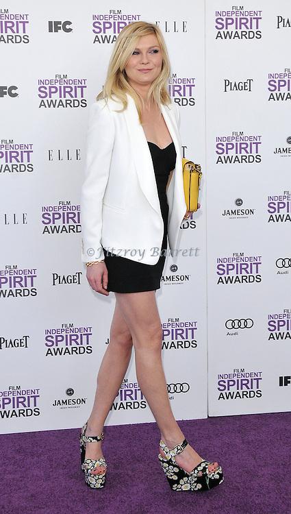 Kirsten Dunst at the 2012 Film Independent Spirit Awards held at Santa Monica Beach, CA.. February 25, 2012