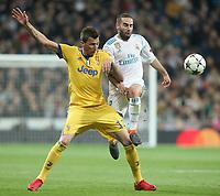 Real Madrid's Daniel Carvajal (r) and Juventus Football Club's Mario Mandzukic during Champions League Quarter-Finals 2nd leg match. April 11,2018. (ALTERPHOTOS/Acero) /NortePhoto.com