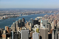 aerial photograph downtown Manhattan, Hudson River, World Trade Center, New York City