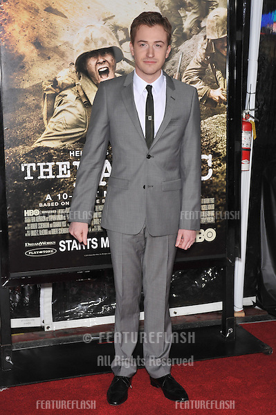 "Joe Mazzello at the premiere of his new HBO miniseries ""The Pacific"" at Grauman's Chinese Theatre, Hollywood..February 24, 2010  Los Angeles, CA.Picture: Paul Smith / Featureflash"