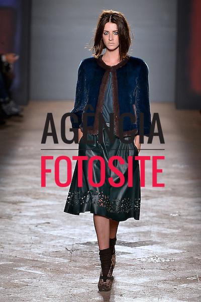 Milao, Italia &ndash; 02/2014 - Desfile de Simonetta Ravizza durante a Semana de moda de Milao - Inverno 2014. <br /> Foto: FOTOSITE