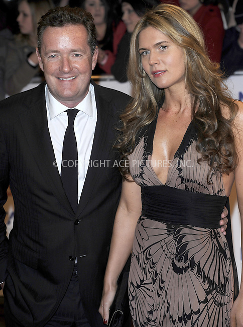 WWW.ACEPIXS.COM . . . . .  ..... . . . . US SALES ONLY . . . . .....January 20 2010, London....Piers Morgan and Celia Walden at the National Television Awards at the O2 Arena on January 20 2010 in London....Please byline: FAMOUS-ACE PICTURES... . . . .  ....Ace Pictures, Inc:  ..tel: (212) 243 8787 or (646) 769 0430..e-mail: info@acepixs.com..web: http://www.acepixs.com