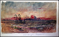 Beautiful and poignant watercolours from WW1 trench artist.