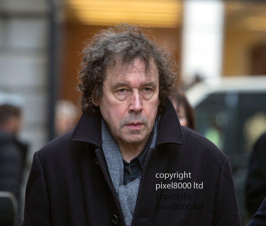"""Pic shows: actor Stephen Rea<br /> <br /> Funeral of Roger Lloyd-Pack - """"Trigger"""" from Only Fools and Horses.<br /> <br /> Mourners arriving at the service at Actors Church in Covent Garden -<br /> <br /> <br /> <br /> <br /> Pic by Gavin Rodgers/Pixel 8000 Ltd"""