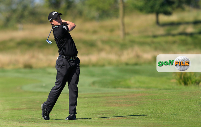 Paul Dunne (IRL) on the 18th fairway during Round 2 of the D&amp;D Real Czech Masters 2016 at the Albatross Golf Club, Prague on Friday 19th August 2016.<br /> Picture:  Thos Caffrey / www.golffile.ie<br /> <br /> All photos usage must carry mandatory copyright credit   (&copy; Golffile | Thos Caffrey)