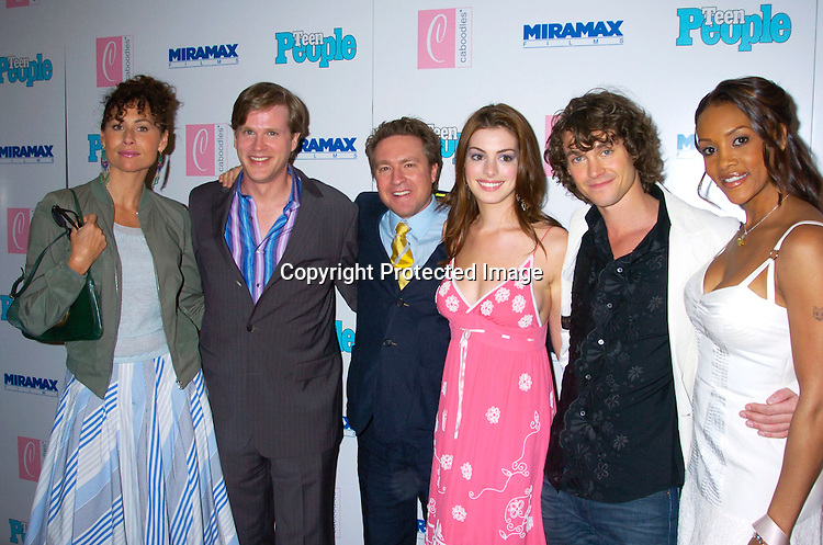 """Minnie Driver, Carey Elwes, Tommy O' Haver, Anne Hathaway, Hugh Dancy and Viveca A Fox ..at The Premiere of """"Ella Enchanted""""  on March 28, 2004 ..at the Clearview Beekman Theatre in New York City. ..Photo by Robin Platzer, Twin Images"""