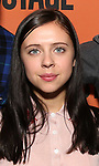 Bel Powley backstage at  the Second Stage Theater Broadway lights up the Hayes Theatre at the Hayes Theartre on February 5, 2018 in New York City.
