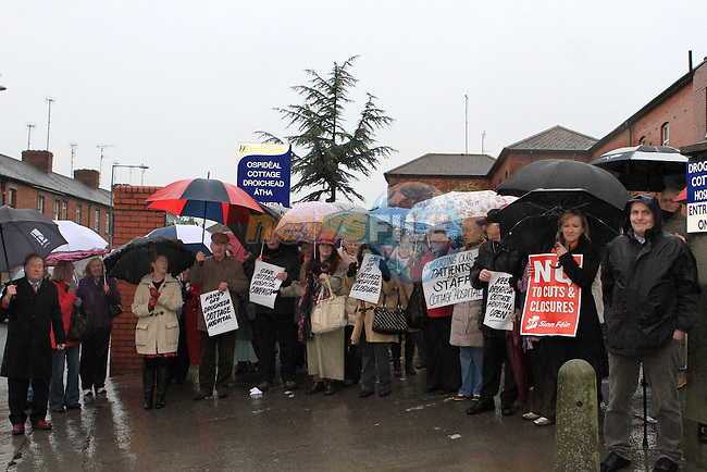 Cottage Hospital Protest 12/12/11..(Photo credit should read Jenny Matthews www.newsfile.ie)....This Picture has been sent you under the conditions enclosed by:.Newsfile Ltd..The Studio,.Millmount Abbey,.Drogheda,.Co Meath..Ireland..Tel: +353(0)41-9871240.Fax: +353(0)41-9871260.GSM: +353(0)86-2500958.email: pictures@newsfile.ie.www.newsfile.ie.