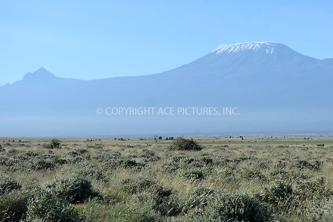 WWW.ACEPIXS.COM<br /> February 29, 2016 New York City<br /> <br /> Mount Kilimanjaro seen from Amboseli National Park on February 29, 2016 in Kenya.<br /> <br /> Credit: Kristin Callahan<br /> web: http://www.acepixs.com