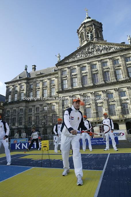 9-2-06, Netherlands, tennis, Amsterdam, Daviscup.Netherlands Russia, Draw,