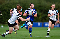 Michael van Vuuren of Bath United goes on the attack. Premiership Rugby Shield match, between Bristol Bears A and Bath United on August 31, 2018 at the Cribbs Causeway Ground in Bristol, England. Photo by: Patrick Khachfe / Onside Images