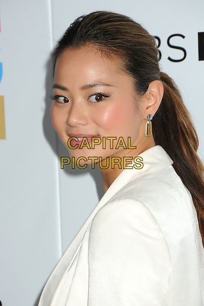 Jamie Chung.CBS Films' U.S. Premiere of 'Salmon Fishing In The Yemen' held at The Directors Guild of America in West Hollywood, California, USA..March 5th, 2012.headshot portrait white jacket top side .CAP/ADM/BP.©Byron Purvis/AdMedia/Capital Pictures.