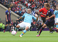 Men's Olympic Football match Spain v Japan on 26.7.12...Isco of Spain, during the Spain v Japan Men's Olympic Football match at Hampden Park, Glasgow...................