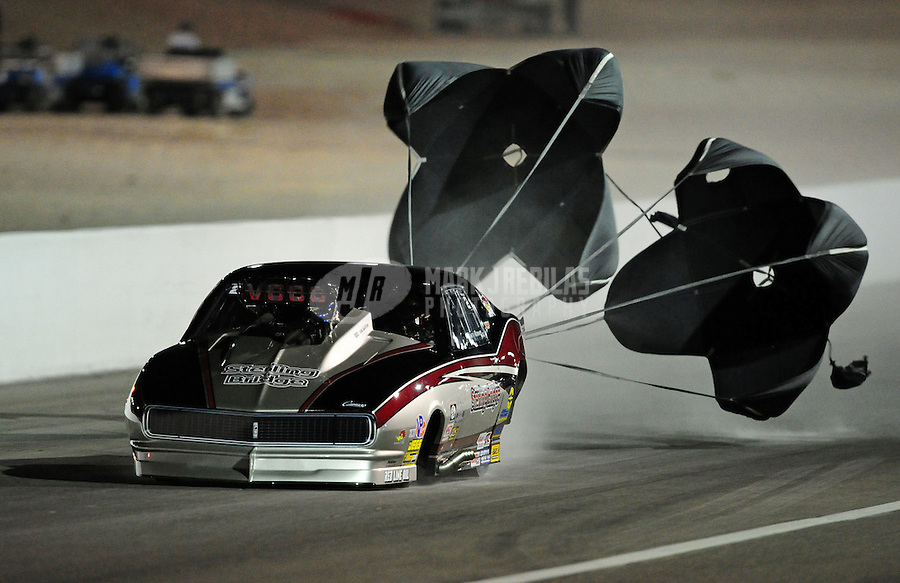 Oct. 28 2011; Las Vegas, NV, USA: NHRA pro mod driver Danny Rowe during qualifying for the Big O Tires Nationals at The Strip at Las Vegas Motor Speedway. Mandatory Credit: Mark J. Rebilas-US PRESSWIRE