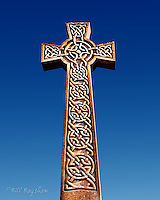 Celtic Cross at Braemar War Memorial is made of granite from the Inver quarry.<br />