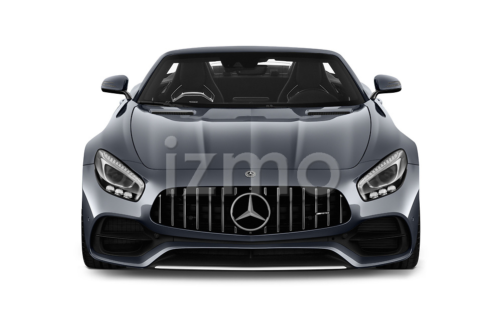 Car photography straight front view of a 2019 Mercedes Benz AMG GT base 2 Door Roadster