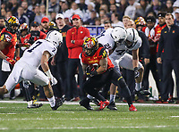 College Park, MD - November 25, 2017: Maryland Terrapins running back Lorenzo Harrison III (2) in action during game between Penn St and Maryland at  Capital One Field at Maryland Stadium in College Park, MD.  (Photo by Elliott Brown/Media Images International)