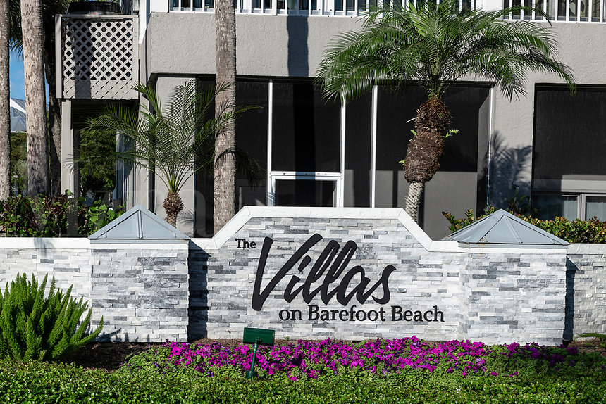 The Villas on Barefoot Beach, Bonita Springs, Florida, USA.