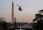 Marine One, with United States President Donald J. Trump aboard, arrives at the South Lawn of the White House in Washington, DC, USA, 05 March 2017. Trump returned to Washington from a weekend at his Palm Beach. Florida, Mar-a-Lago club.<br /> Credit: Erik S. Lesser / Pool via CNP