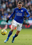Jamie Vardy of Leicester City during the Premier League match against Chelsea at the King Power Stadium, Leicester. Picture date: 1st February 2020. Picture credit should read: Darren Staples/Sportimage