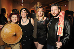 From left: Jennifer Mathis, April Kyle, Katie Mahoney and Chris Mathis at Apocalypto,The Spacetaker's sixth annual gala, at the Winter Street Studios Saturday March 20,2010. (Dave Rossman Photo)