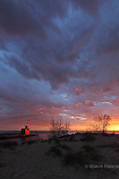Holland Lighthouse portrait lighthouses in the Upper Peninsula of Michigan