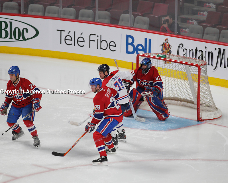 Montreal, CANADA -  File Photo - Canadiens hockey players in december 2013.
