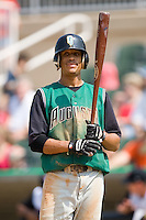 Augusta shortstop Emmanuel Burris (5) at bat versus Kannapolis at Fieldcrest Cannon Stadium in Kannapolis, NC, Monday, September 3, 2007.