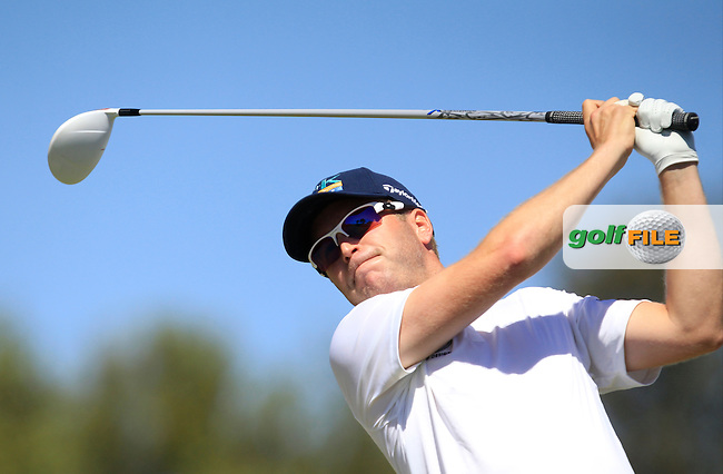 Matt Ford (ENG) on the 1st tee during Round 4 of the Open de Espana  in Club de Golf el Prat, Barcelona on Sunday 17th May 2015.<br /> Picture:  Thos Caffrey / www.golffile.ie