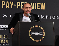 """BEVERLY HILLS - MAY 22: Keith """"One Time"""" Thurman attends a press conference in Beverly Hills for the Premier Boxing Champions on FOX Sports Pay-Per-View fight against Manny Pacquiao on July 20 in Las Vegas. (Photo by Frank Micelotta/Fox Sports/PictureGroup)"""