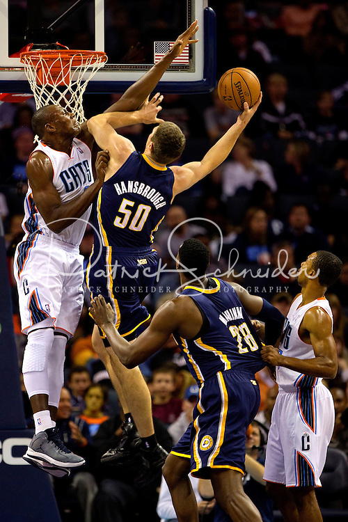 The Charlotte Bobcats vs. The Indiana Pacers at Time Warner Cable Arena in Charlotte, NC...Photo by: PatrickSchneiderPhoto.com