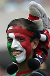 i24 June 2007:  A Mexico fan. The United States Men's National Team defeated the national team of Mexico 2-1 in the CONCACAF Gold Cup Final at Soldier Field in Chicago, Illinois.