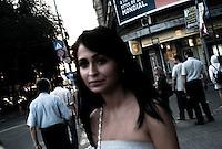 ROMANIA / Bucharest / August 2009 / A young woman on the street.  © Davin Ellicson / Anzenberger