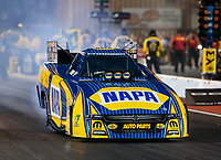 Jul 20, 2018; Morrison, CO, USA; NHRA funny car driver Ron Capps during qualifying for the Mile High Nationals at Bandimere Speedway. Mandatory Credit: Mark J. Rebilas-USA TODAY Sports