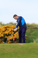 Damien McCusker (Moyola Park) during round 1 of The West of Ireland Amateur Open in Co. Sligo Golf Club on Friday 18th April 2014.<br /> Picture:  Thos Caffrey / www.golffile.ie
