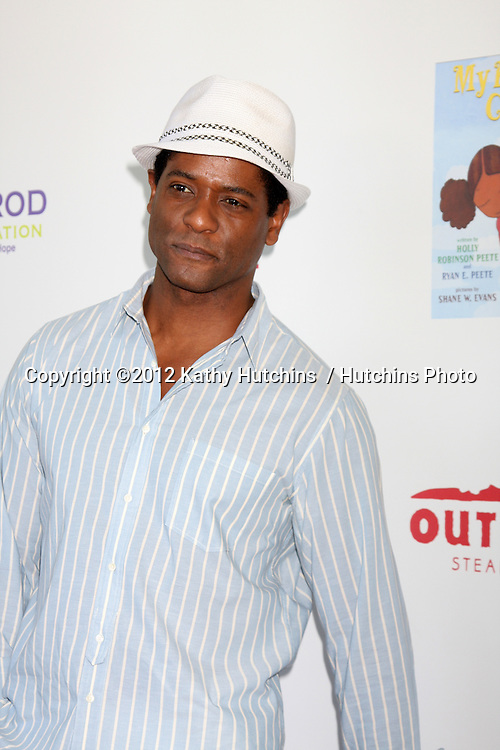 LOS ANGELES - AUG 12:  Blair Underwood arrives at the 3rd Annual My Brother Charlie Family Fun Festival at Culver Studios on August 12, 2012 in Culver City, CA