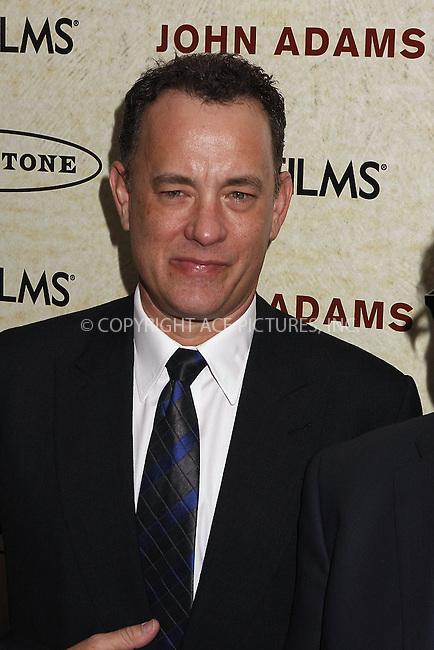 WWW.ACEPIXS.COM . . . . . ....March 3 2008, New York City....Actor Tom Hanks arriving at the premiere of HBO's 'John Adams'  at The Museum of Modern Art in midtown Manhattan....Please byline: AJ SOKALNER - ACEPIXS.COM.. . . . . . ..Ace Pictures, Inc:  ..(646) 769 0430..e-mail: info@acepixs.com..web: http://www.acepixs.com