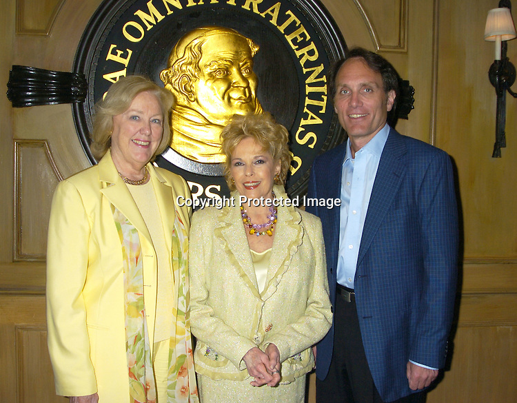 Mickey Dwyer-Dobbin, Eileen Fulton and Chris Goutman ..at The Friar's Club for the signing of Eileen Fulton's new contract with As The World Turns on June 14, 2005 . She has been on the show for 45 yuears...Photo by Robin Platzer, Twin Images
