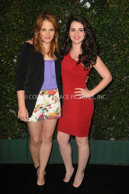 WWW.ACEPIXS.COM . . . . .  ....May 1 2012, LA....Actors Katie Leclerc and Vanessa Marano arriving at ABC Family Upfronts at The Sayers Club on May 1, 2012 in Hollywood, California.....Please byline: PETER WEST - ACE PICTURES.... *** ***..Ace Pictures, Inc:  ..Philip Vaughan (212) 243-8787 or (646) 769 0430..e-mail: info@acepixs.com..web: http://www.acepixs.com