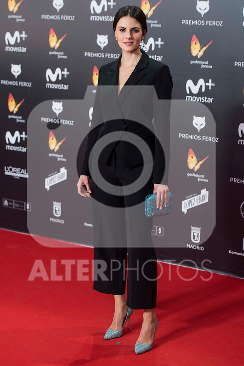 Melina Matthews attends red carpet of Feroz Awards 2018 at Magarinos Complex in Madrid, Spain. January 22, 2018. (ALTERPHOTOS/Borja B.Hojas)