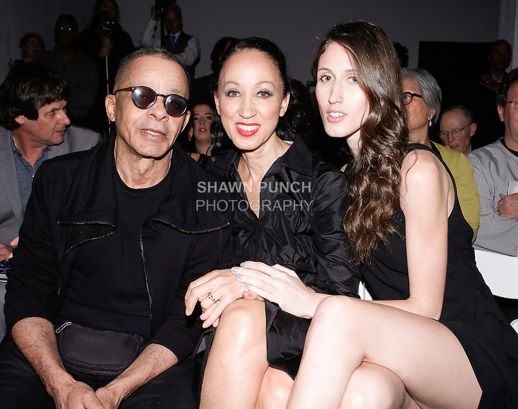"(L-R) Stephen Burrows, Pat Cleveland and Anna Cleveland attend the 115th Annual Pratt Institute 2014 Student Runway; ""Under Construction"" collection at Center548 in NYC, on May 1, 2014."