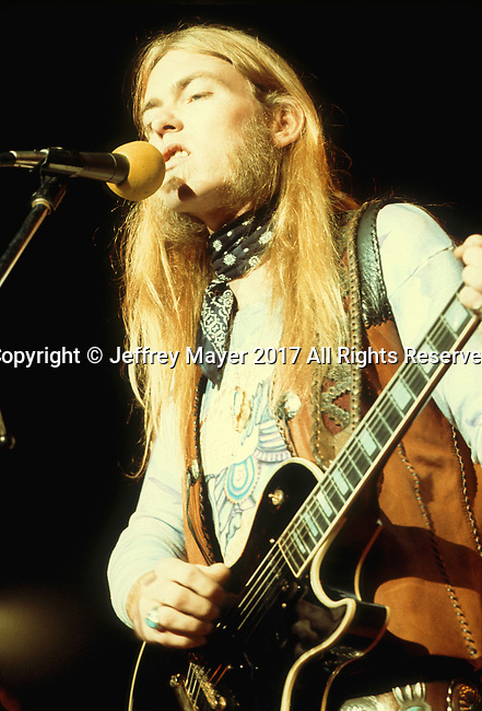 INGLEWOOD, CA - MARCH 14: Gregg Allman live in concert with the Allman Brothers Band at The Forum on November 7, 1974 in Inglewood, California.