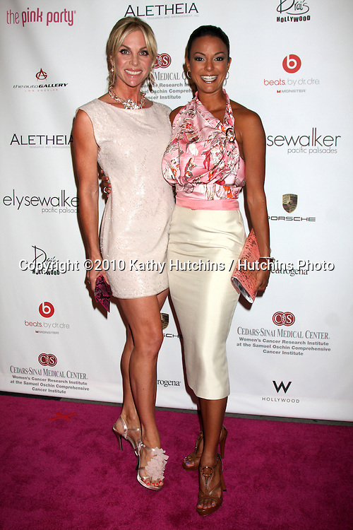 LOS ANGELES - SEP 25:  Cindy Ambuehl & Eva LaRue arrives at the Pink Party 2010 at W Hollywood Hotel on September 25, 2010 in Los Angeles, CA