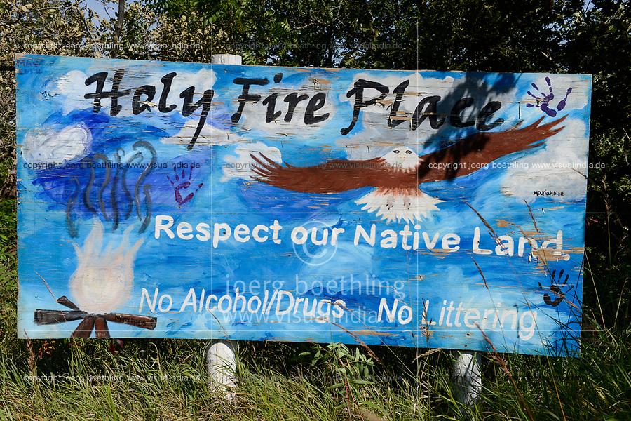 USA, Nebraska, Omaha Reservation, Holy Fire Place