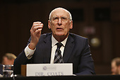"""Director Daniel Coats, Office of the Director of National Intelligence (ODNI) testifies before the United States Senate Select Committee on Intelligence during an open hearing on """"Worldwide Threats"""" on Capitol Hill in Washington, DC on Tuesday, January 29, 2019.<br /> Credit: Martin H. Simon / CNP"""