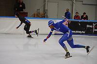 SCHAATSEN: LEEUWARDEN, 22-10-2016, Elfstedenhal, KNSB Trainingswedstrijden, Daidai Ntab, Michel Mulder, ©foto Martin de Jong