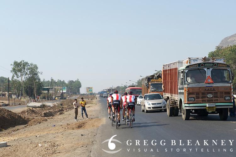 Team Radio Shack, Tour of India, Nashik Stage Warm Up Spin - Nashik
